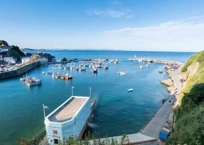 The view from Harbour Tavern Penthouse, Mevagissey