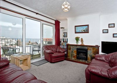 The living area @ Harbour View, Brixham