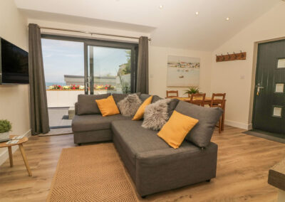 The living area at Harbour View Retreat, Brixham