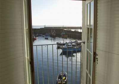 The view of the harbour from Harbourside Apartment, Mevagissey