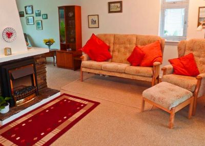 The living area at Harlyn, Mevagissey
