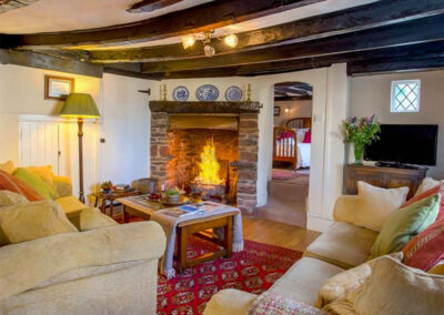 The living area at Hearthstone East Cottage, Brixham
