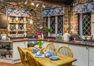 The kitchen at Hearthstone East Cottage, Brixham