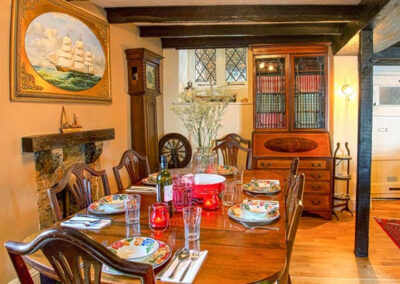 The dining area at Hearthstone East Cottage, Brixham