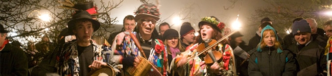 January sees most of us tucked up beside the fire, but the Annual Wassail at Trelissick Garden takes place in the old orchard after dark. Bring instruments and a torch and follow the Wassail King down to bless the fruit trees.