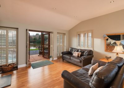 The open plan living & dining area and kitchen @ Heron Lodge, Exeter