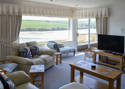 The living area at Heybrook Court, Newquay