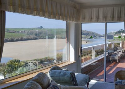 The view from the living area at Heybrook Court, Newquay