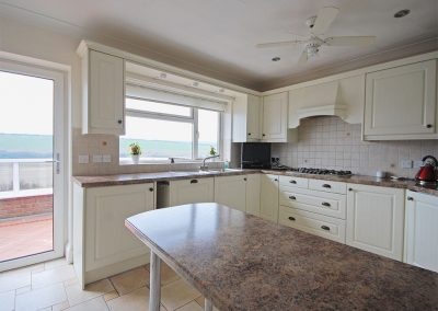 The kitchen at Heybrook Court, Newquay
