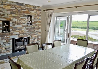 The dining area at Heybrook Court, Newquay