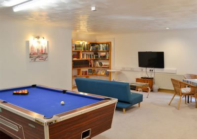 The games room at Heybrook Court, Newquay