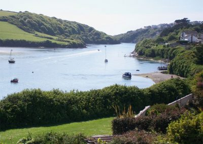 Uninterrupted views across the Gannel Estuary from Heybrook Court, Newquay