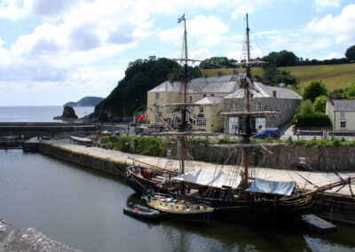 The tall ships port is a short walk from Hideaway Barn, Charlestown