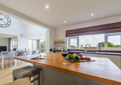 The kitchen at Highcroft, St Miniver