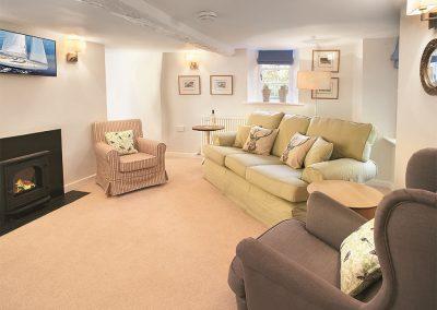 The living area at Higher Lodge, Cockington Village