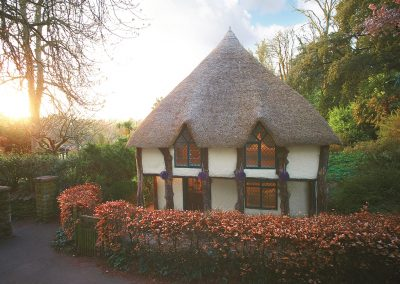 Outside Higher Lodge, Cockington Village