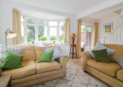 The living area at Hilltop, Stoke Gabriel