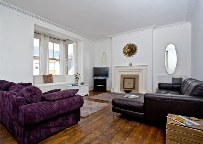 The living area at Hobart House, Newquay