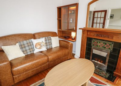 The living area at  Hoe Apartment, Barbican