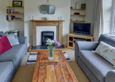 The living area at Hollerday Cottage, Lynton