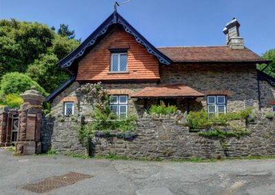 Outside Hollerday Cottage, Lynton