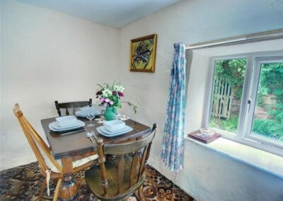 The dining area at Holwell Farm Wing, Parracombe