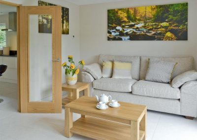 The second living area at Honey Pippin, Horselake Farm Cottages, Cheriton Bishop