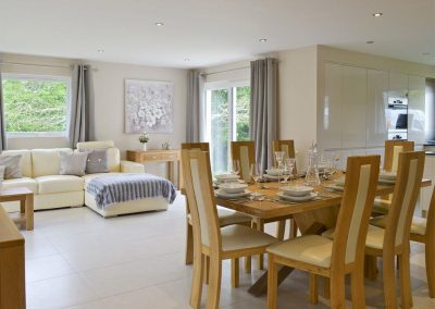 The dining area at Honey Pippin, Horselake Farm Cottages, Cheriton Bishop