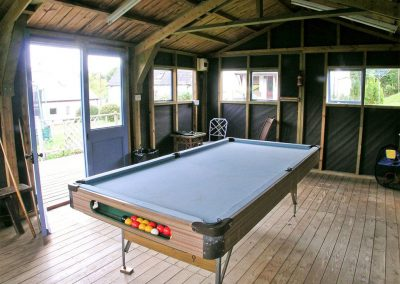 The shared games room at Honey Pippin, Horselake Farm Cottages, Cheriton Bishop