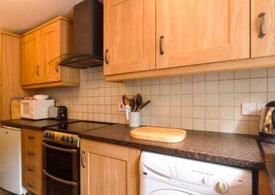 The kitchen at Honeysuckle, Gorran Haven