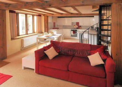 The living area @ Honeysuckle, Old Manor Farm, Torquay