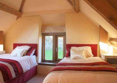 Bedroom #1, set up as a twin @ Honeysuckle, Old Manor Farm, Torquay