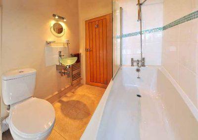 The bathroom @ Honeysuckle, Old Manor Farm, Torquay