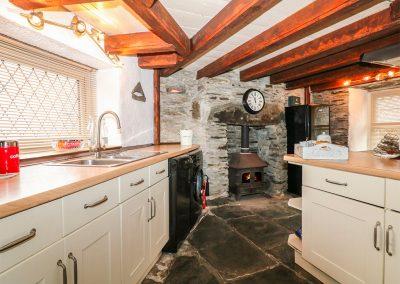 The kitchen at Horseshoe Cottage, Delabole