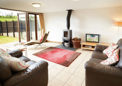 The living area at Hunters Moon, Feniton