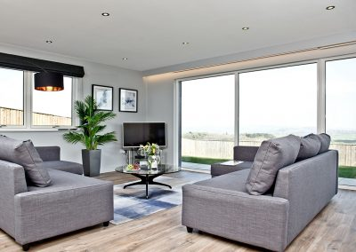 The living area at Huxham View Annexe, Exeter