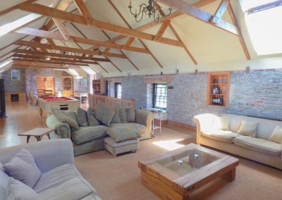 The living room at Hybadore Coach House, Golant
