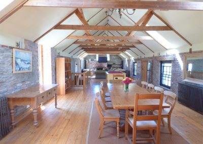 The dining area at Hybadore Coach House, Golant