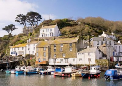 The pretty harbour at Polperro