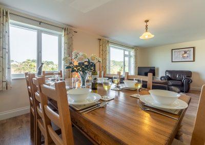 The dining area at Jalousie, Polzeath