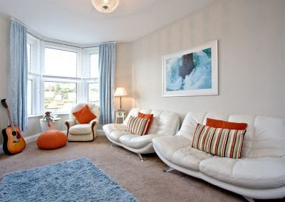 The living area at Kerensa, Looe