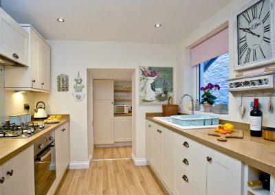 The kitchen at Kerensa, Looe