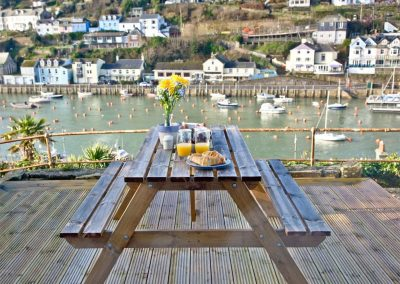 The decked patio at Kerensa, Looe