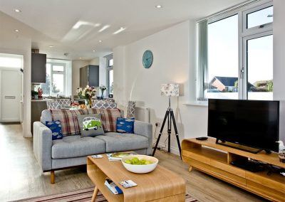 The living area at Kingsley House, Newquay