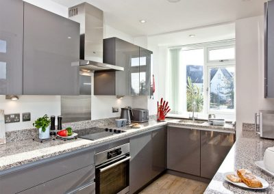 The kitchen at Kingsley House, Newquay