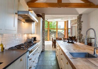 The kitchen at Landscove House, Landscove