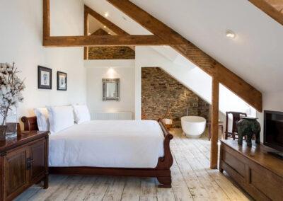 Bedroom #1 & en-suite at Landscove House, Landscove