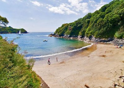 Ready Money Cove is a 10 minute drive from Lanhydrock Barn