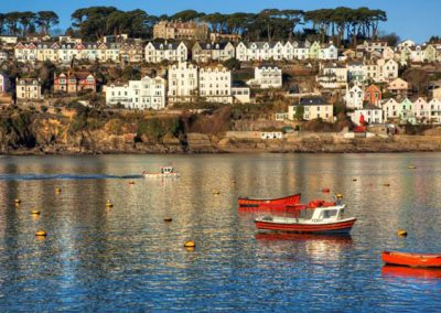 The picturesque fishing port of Fowey is just a short drive away