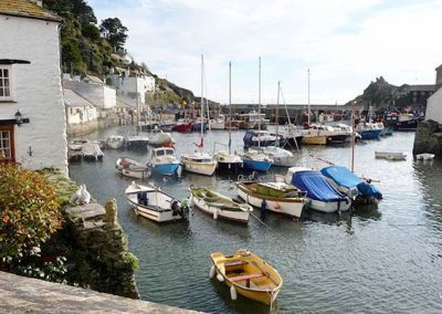 Libbys Cottage is close to Polperro's pretty harbour
